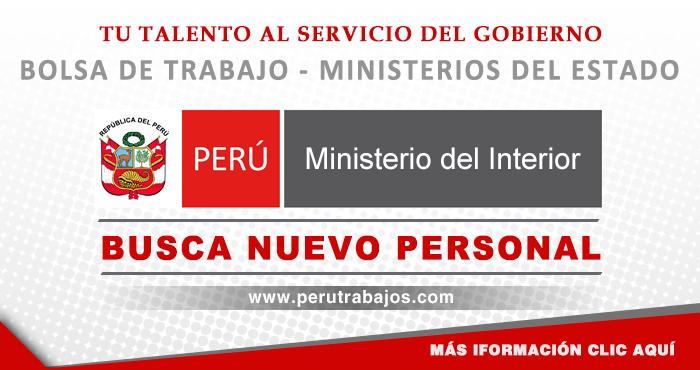 Ministerio del interior mininter convocatorias 2019 for Sueldos del ministerio del interior